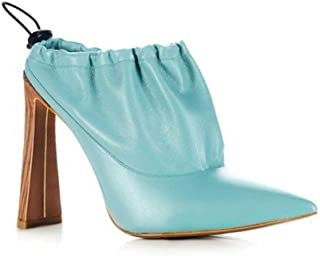 Yevrah Designer Pale Blue Heel - Made in Brazil - 6.5 U.S. - The Diver Heels