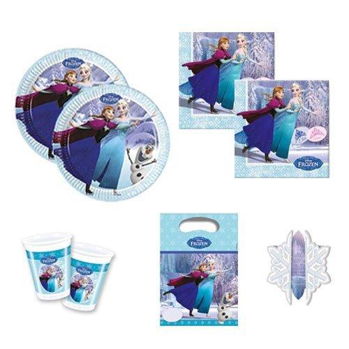 Frozen Ice Skating Partygeschirr Partyset Servietten Becher Teller Partytüten Einladungskarten Kinder-Geburtstag Geschirr Anna Elsa Olaf (8)