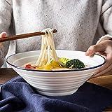 HUAHUA Bowls Ensalada de fruta de cerámica verde retro/Pasta/Cereal B/C/plato de sopa Ramen HOGAR vajilla, un diámetro de 10 pulgadas