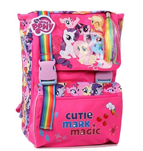 Zaino My Little Pony - Scuola - Sdoppiabile, Estensibile, 28 litri, Poliestere, Multicolore