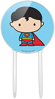 GRAPHICS & MORE Acrylic Superman Cute Chibi Character Cake Topper Party Decoration for Wedding Anniversary Birthday Graduation
