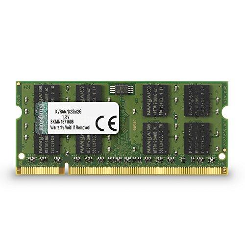 MEMORIA 2GB DDR2 5300 SODIMM KVR667D2S5/2G NOTEBOOK