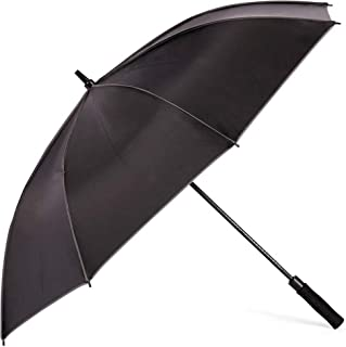 AINIYF Rain Umbrella Sun Protection Umbrella Anti-UV Umbrella Golf Long Handle Large Parasol (Color : Black)