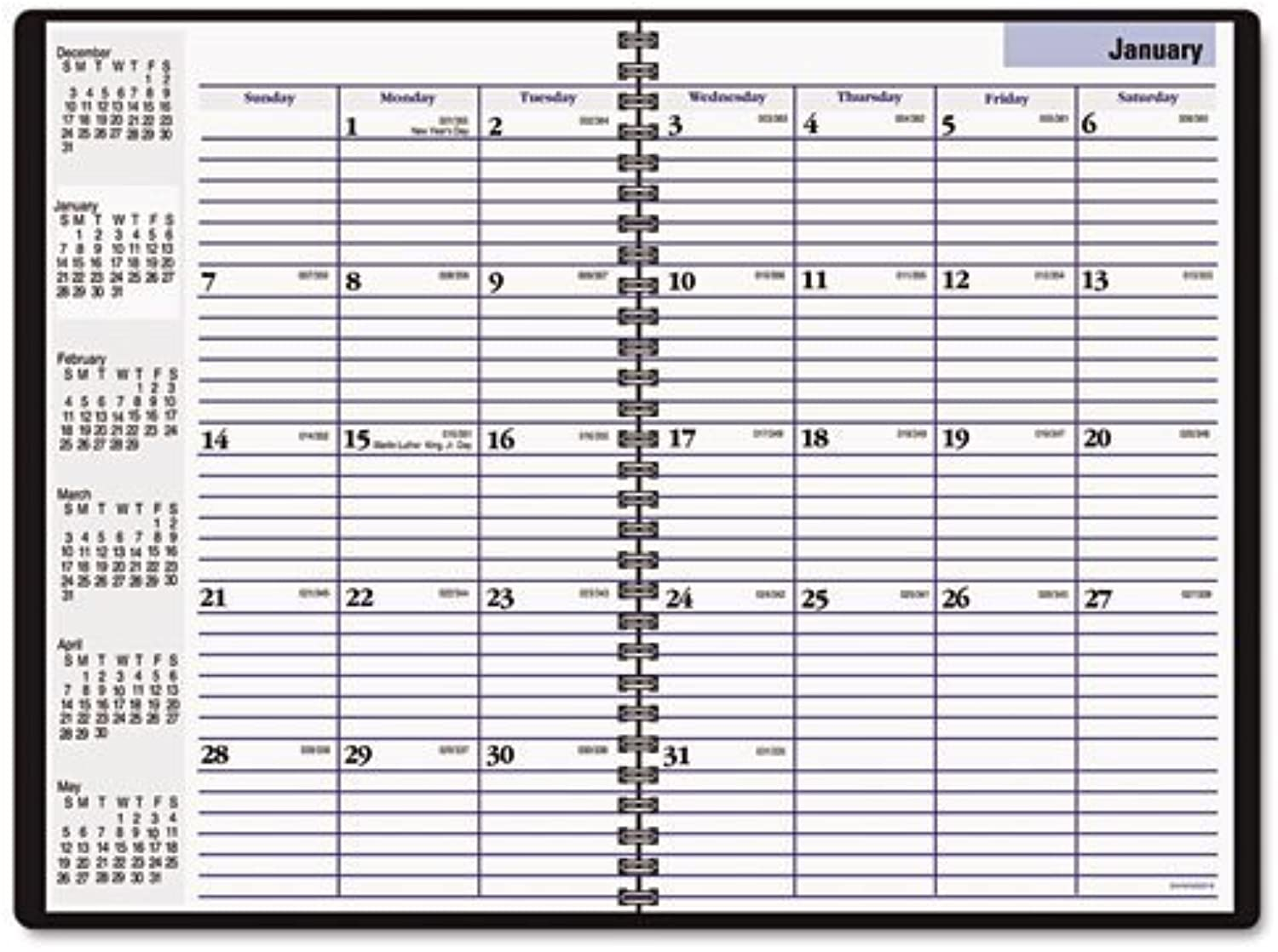 DayMinder - Recycled Monthly Academic Planner, schwarz, 7 7 8  x 11 7 8 , 2014-2016 G470-00 (DMi EA by DayMinder B018RFKARM | Auktion