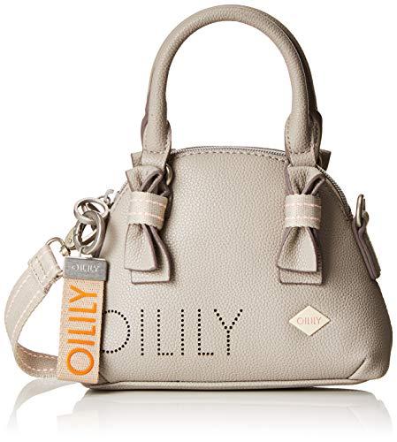 Oilily Damen Airy Handbag Xshz Henkeltasche, Grau (Light Grey), 6.0x15.0x20.0 cm