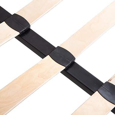 Lolahome Lit 2 places en velours et bois terre cuite contemporain 160 x 200 cm