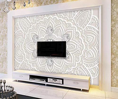 Preisvergleich Produktbild 3D Fototapete 3D Effekt Europäische Prägemuster-Schmuckkunst 250 x 175 cm Tapete 3D Wandbild Bild Tapeten Wandtapete Dekoration Wandbelag Wanddeko