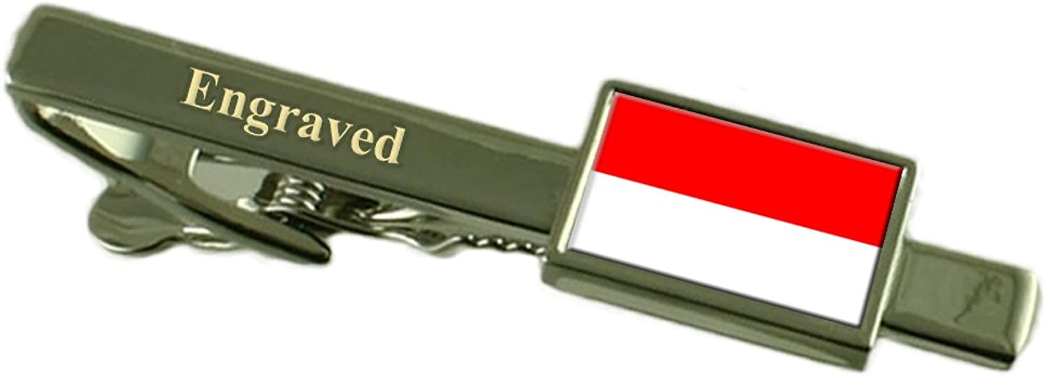Vienna City Austria Flag Tie Clip Engraved in Pouch