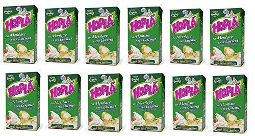12x Trevalli Hopla Panna da montare e per cucina Sahne zum Kochen Gluten-frei basierend auf pflanzlichen Fetten 1000ml