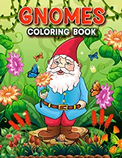 Gnomes Coloring Book Featuring Relaxation