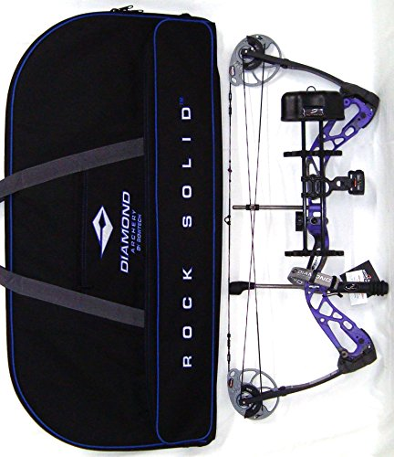 Diamond Edge SB-1 Compound Bow, Purple Blaze, RAK Package, Right Hand, 7-70lbs, with Diamond Soft Bow Case