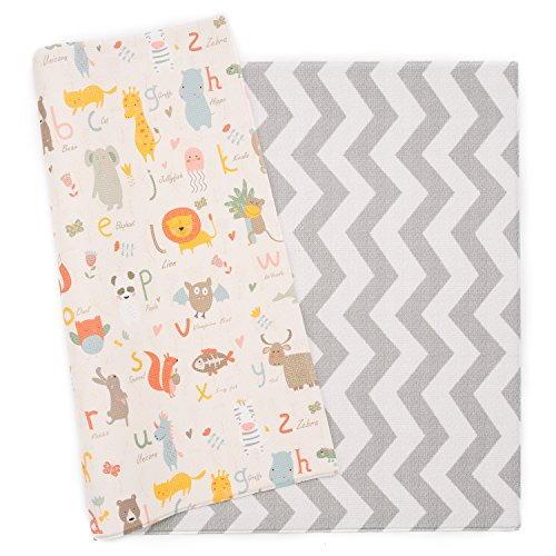 Cheapest Price! Baby Care Play Mat - Haute Collection (Large, Zig Zag - Grey) - Non-Toxic Foam Baby ...