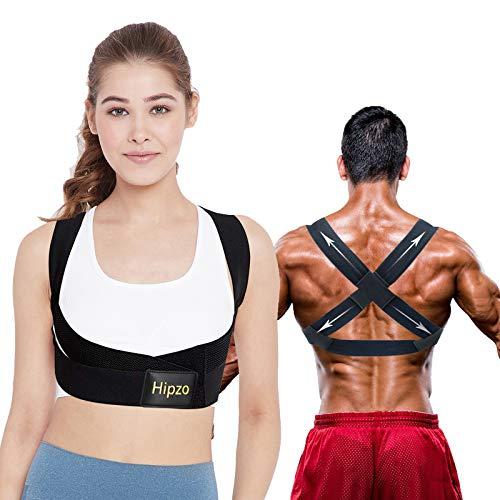 Hipzo Corrector Postura Espalda, Ajustable Transpirable Invisible Corrector Espalda para Mujeres Hombres, Alivia los Dolores de Espalda, Cuello y Hombros, Mejora la Postura, Cambia el Temperamento