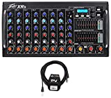 Package: Peavey XR S 1000 Watt Rack Mountable Powered/Active 8 Channel Mixer w/ Bluetooth/USB+AutoTune XRAT and 3-Band EQ Per Channel + Peavey PV 20' XLR Female to Male Low Z Mic Cable