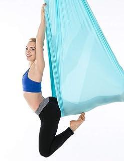 5/Couleurs Choix Wellsem Ensemble Complet dantenne Flying Yoga Inversion Hamac Yoga Sling Trapeze pour Body Building Workout Fitness avec cha/îne et mousquetons