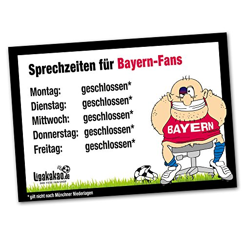 Büro-Abwehrschild Bayern | Schützt den Arbeitsplatz von Dortmund 09-, Schalke- & Allen Fußball-Fans vor verirrten Bayern-Fans | Öffnungszeiten Sprechzeiten-, Eingangs- & Tür-Schild