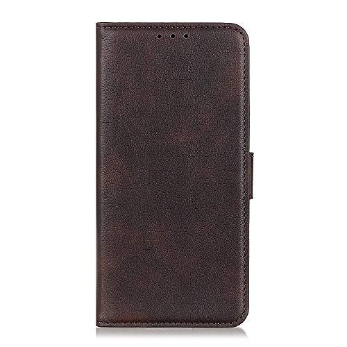 Sunrive Funda para Xiaomi Mi 8 Pro, Funda Protección Carcasa Cuero Resistente Cierre Magnético,Carcasa en Folio, Soporte Plegable (061 Marrón) + 1 x Lápiz óptico