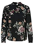 Only Onlnew Mallory L/S Blouse WVN Noos Camiseta sin Mangas, Multicolor (Black AOP: CD Flower), 40 para Mujer