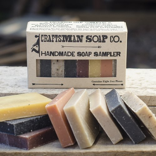 Craftsman Soap Co. Soap Sampler, 8-pieces of All-Natural Soap
