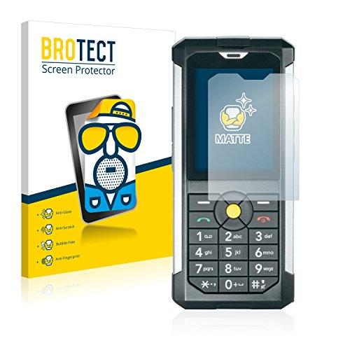 BROTECT 2X Entspiegelungs-Schutzfolie kompatibel mit Caterpillar Cat B100 Bildschirmschutz-Folie Matt, Anti-Reflex, Anti-Fingerprint