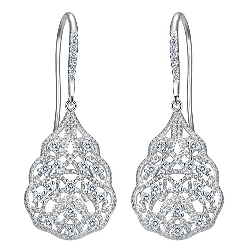 EVER FAITH Women's 925 Sterling Silver Cubic Zirconia Vintage Inspired...