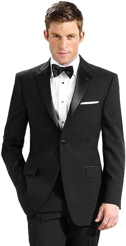 Neil Allyn 100% Polyester Tuxedo Jacket Black