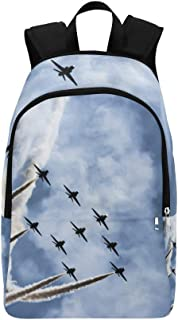 Aircraft Fighter Jets Casual Daypack Travel Bag College School Backpack for Mens and Women