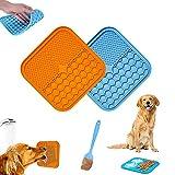 2 alfombrillas para lamer perros y gatos, comedero lento para aliviar la ansiedad y el aburrimiento, juguetes para mascotas, para baño, aseo y entrenamiento