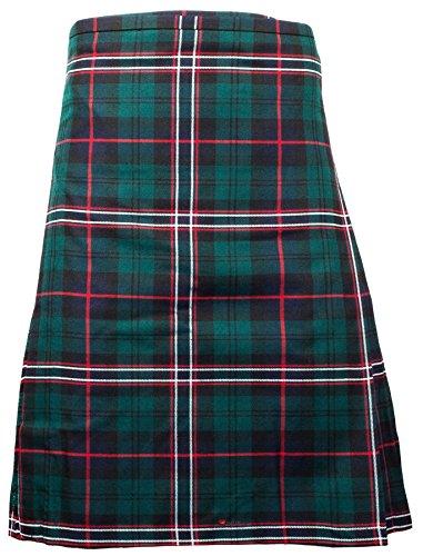 I Luv Ltd Gents Scottish Kilt Full 8 Yard 24in Drop Waist 42-44 Colour Stewart Black Tartan