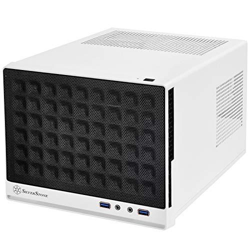 SilverStone Technology Mini-DTX, Mini-ITX Small Form Factor Computer Case SG13WB Black/White