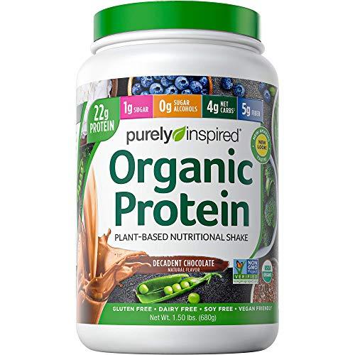 Vegan Protein Powder Smoothie Mix   Purely Inspired Organic Protein Powder   Plant Based Protein Powder for Women & Men   Pea Protein Powder   Plant Protein Powder   Chocolate, 1.5 lb (package varies)