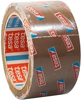 tesa 64014 Klebeband Paketklebeband Packband 66m x 50mm 12 Rollen, Braun