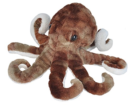 Wild Republic Octopus Plush, Stuffed Animal, Plush Toy, Gifts for Kids, Sea Critters, 8'