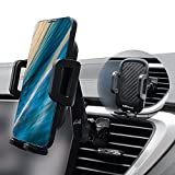 AiHiwvol 車載ホルダー 自動開 スマホ車載ホルダー 片手操作 車載 スマホスタンド エアコン 吹き出し口 着脱簡単 携帯ホルダー 360回転 改善する安定性 車 スマホホルダー For iPhone 12 Pro 11 XS XR SE 8 Plus/Samsung/Sony/LG/HUAWEI/Xiaomi 3.5-6.8インチ全機種に対応