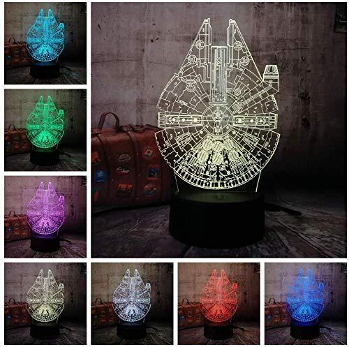 3D Ilusión Luz Nocturna Infantil 3D illusion light luz nocturna remoto para sala de estar, bar, regalo juguetes para niños y niñas Con interfaz USB, cambio de color colorido