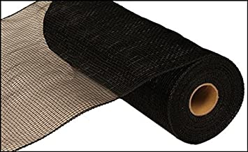 10 inch x 30 feet Deco Poly Mesh Ribbon - Value Mesh (Black)