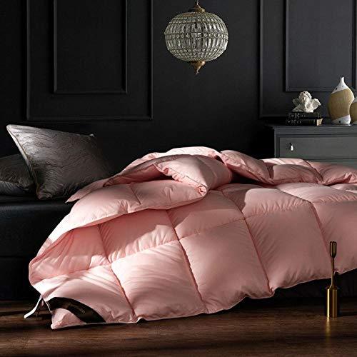 CHOU DAN bettdecke 200x220,Mehrfarbig optional Dicke warme Bettwäsche Quilt Mute Plus Daunendoppelbettdecke im Herbst und Winter-220 x 240 cm 4000 g_Warme Jade