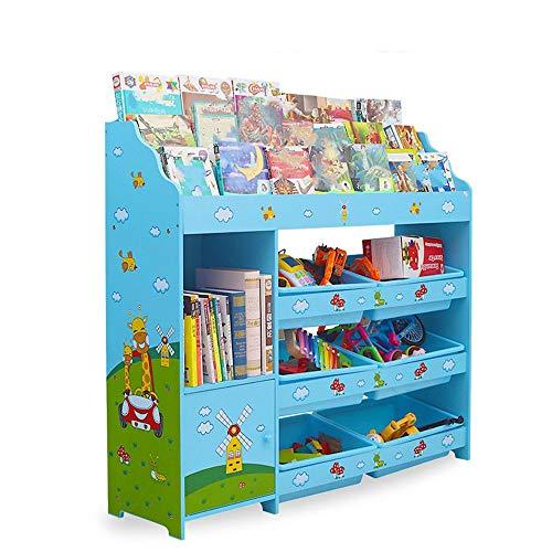 KCCCC Unidad de Almacenamiento de Juguetes Estante de Almacenamiento para niños con Cajas extraíbles Organizador de Juguete Dormitorio para niños (Color : Blue, Size : One Size)