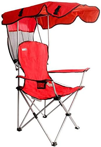 En Plein air Pliable Pliante Portable Chaise de Camping avec,Leger Fauteuil Pliable Chaise Pliante avec Porte-Boisson,Chaise de pêche,Etanche,Prend en Charge Les 227 lbs-Rouge