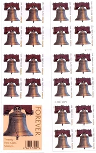 precios bajos USPS Forever Stamps Liberty Bell 100 Stamps Stamps Stamps (5 books of 20) by USPS  tiendas minoristas