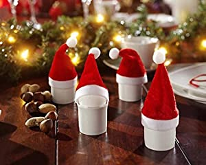 10 Mini-Deko-Weihnachtsmannmützen Weihnachtsmützen Weihnachtsdeko Adventdekoca. 11 cm hoch