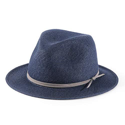 H.Busque Breathable Straw Panama Hüte Fedora Fine Braid Sonnenhut UPF50 + Leichte Sonnenhüte Havanna Hut für beide Damen Herren