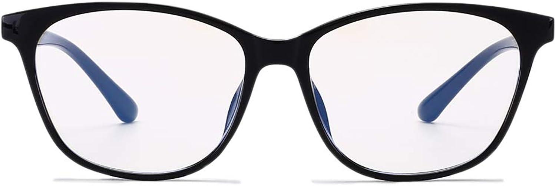 bluee Light Blocking Glasses Vintage Computer Filter Eyeglasses Clear Lens NonPrescription Unisex Wayfarer Eyewear Frame Matte Black