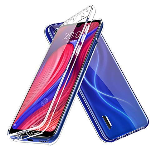 LXHGrowH Funda para Samsung Galaxy A01 - Carcasa Completa Anti-Shock [360°] Full Body Protección [Silicona TPU Frente] y [Duro PC Back] para Samsung Galaxy A01 - Cover Doble [Transparente]