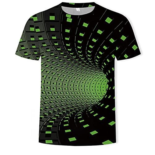 Camiseta de Manga Corta Camisa 3D Camiseta De Moda De Verano 3D para Hombre con Estampado De Malla Turboalimentada, Camisa Holgada Informal con Cuello Redondo para Hombre, XXXL T10