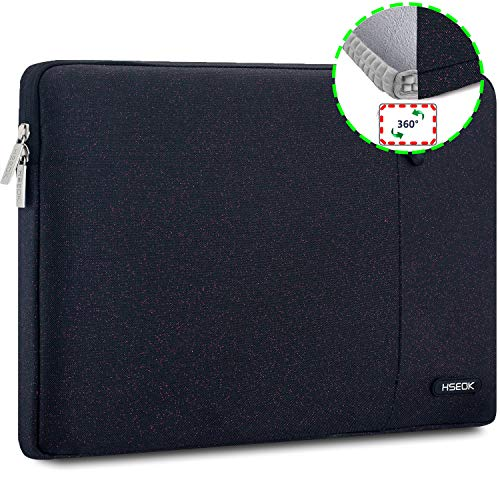 HSEOK 15,6 Zoll Laptop Hülle Tasche,Stoßfeste Wasserdicht PC Sleeve kompatibel mit die meisten 15,6 Zoll Laptops Dell/HP/Lenovo/Acer/Ausu,Lila Punkt