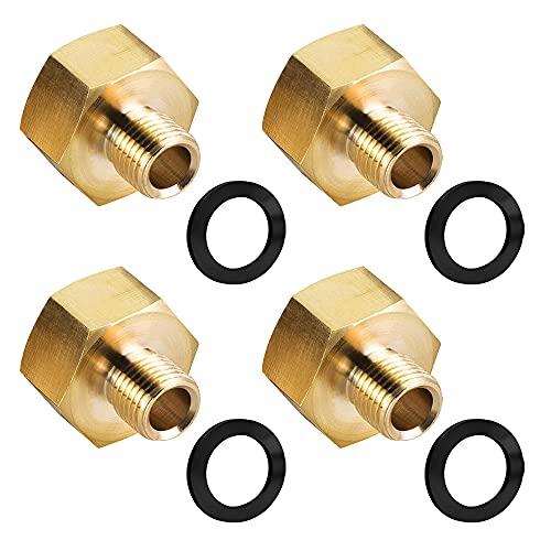 MOPOIN Adaptador de botella de gas, adaptador de gas de 1/2 a 1/4, conector de manguera de gas de cobre, adaptador de transición de estufa de gas para cocina de gas, estufa de camping