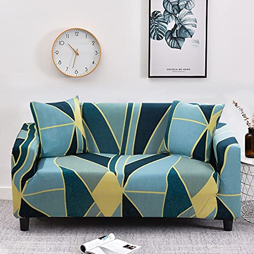 WXQY Fundas de Tela Escocesa elásticas elásticas Funda de sofá Antideslizante Funda de sofá para Mascotas Esquina en Forma de L Funda de sofá Antideslizante A7 4 plazas