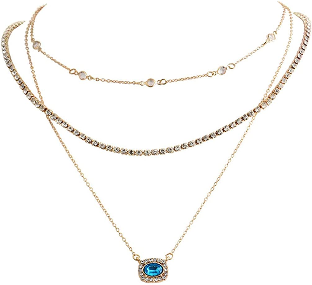 Toporchid Bohemian Necklace For Women Crystal Long Charms Pendant Necklaces Collars