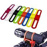 LATTCURE Fahrrad Silikonband Gummiband Bandage, 8...